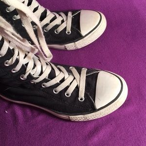 Converse Shoes - Converse zip up lace up high tops